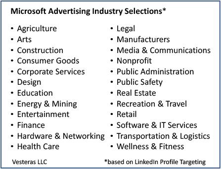 Microsoft Advertising bid adjustment by industry